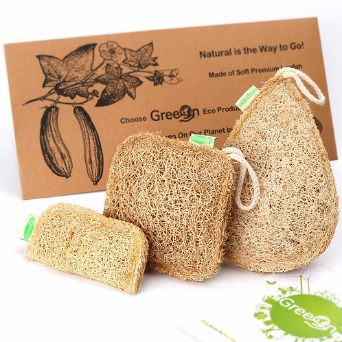 Eco Kitchen Sponge New Pure Handmade Multilayer Natural Loofah Scrubber Anti-Oil