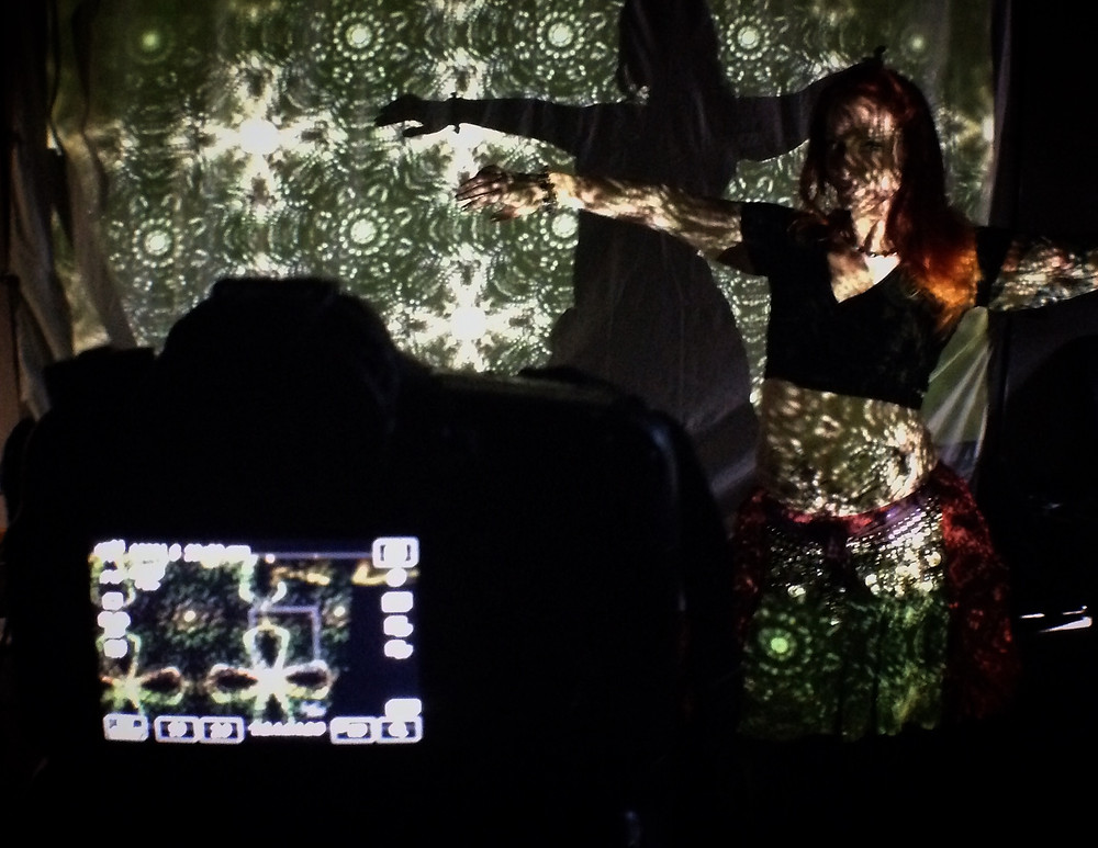 Krstin Saez poses for belly dance shots