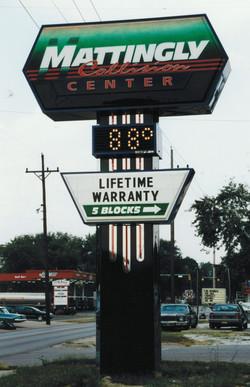 Mattingly Pylon sign in Terre Haute