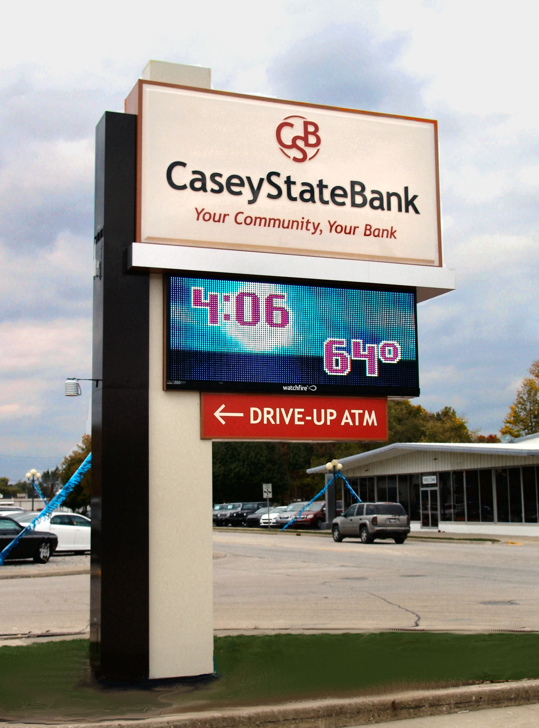 Casey State Bank Main Pylon Casey IL