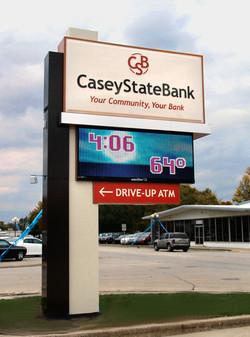Casey State Bank Main Pylon Casey IL
