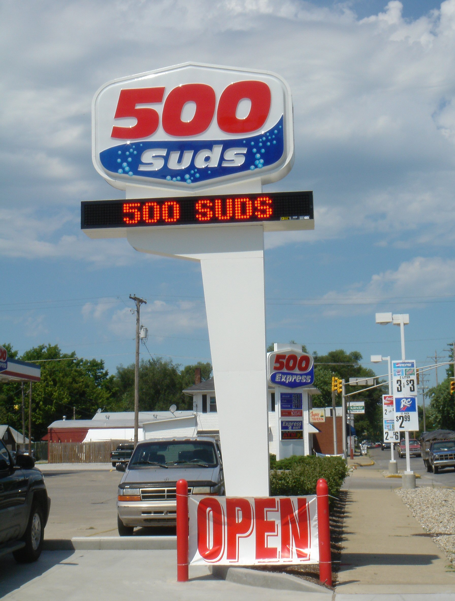 500 Suds Pylon