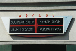Southland Arcade Sign in Terre Haute