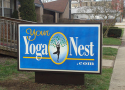 Yoga sign logo