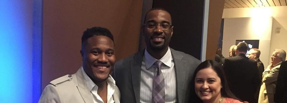 """w/ Hall of Fame NFL Player Calvin """"Megat"""