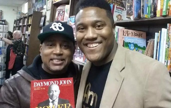 "w/ Daymond ""The People's Shark"" John"