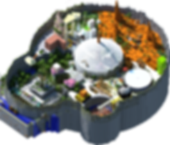 MiniFun plans lobby 3D, MniFun lobby, lobby minecraft shader, lobby minecraft vus de haut, minecraft server minifun lobby, lobby