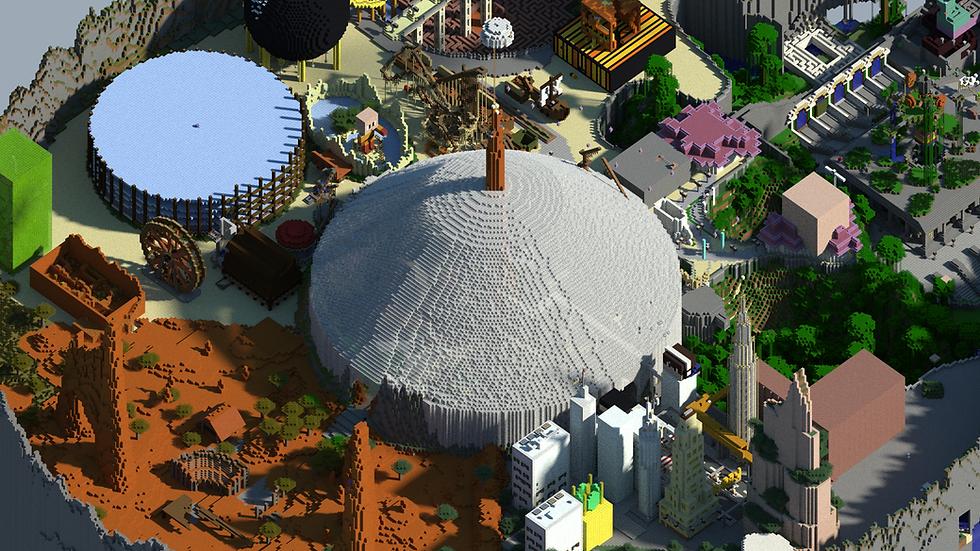 MiniFun plan paralelle , Shaer HD, attractions, minecraft attractions, minecraft lobby, minecraft serveur hub, minecraft serveur