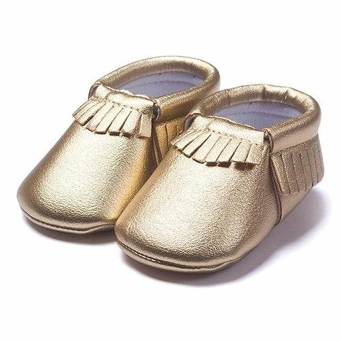 Fringe Moccasins Gold