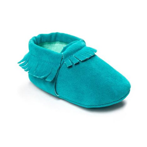 Faux Suede Moccasins Turquoise