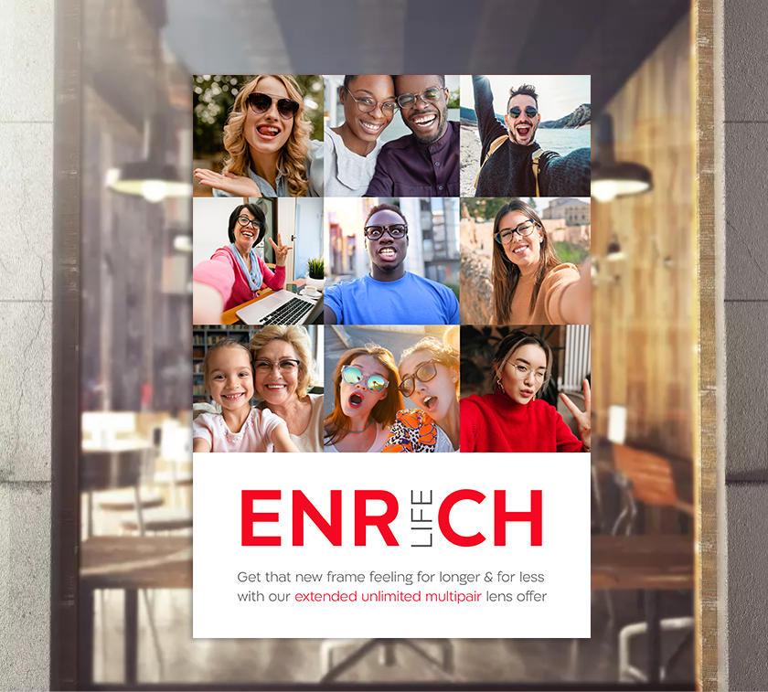 Enrich life Poster