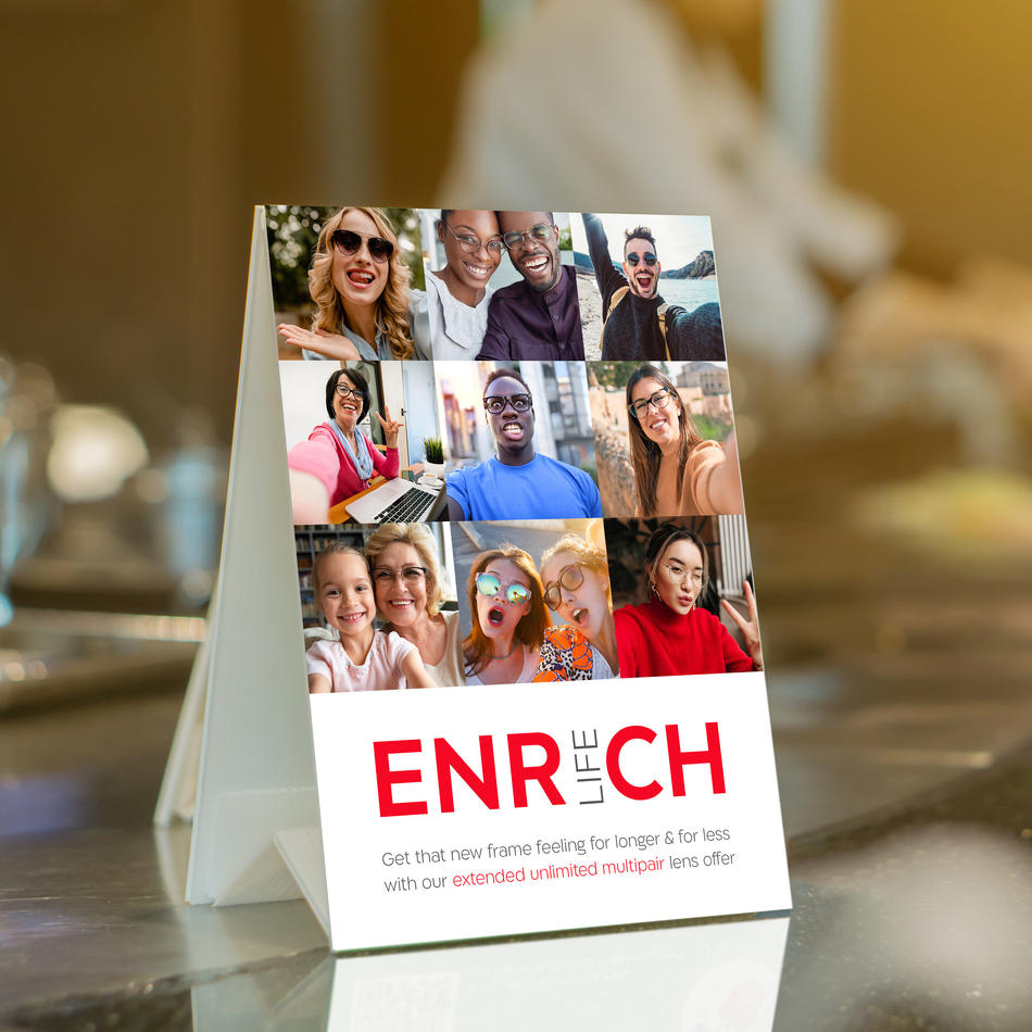 Enrich Life Tent Card