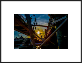Sunset under Hungerford Bridge - £150 .jpg