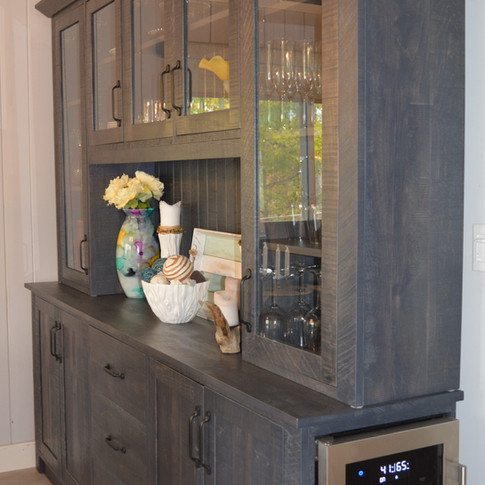 Custom Diningroom Hutch with wine cooler built-in