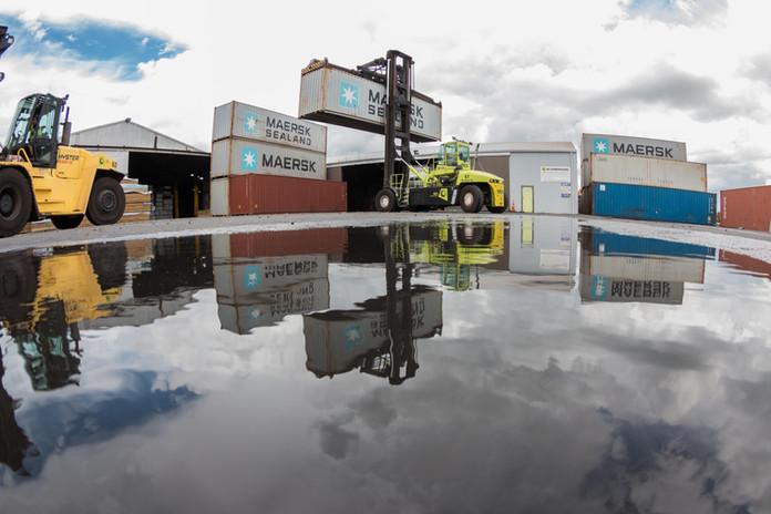 Container yard Tauranga reflection.jpg