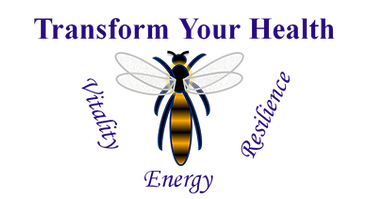 Transform Your Health Logo. Help your body to heal. Dragonfly - transformation