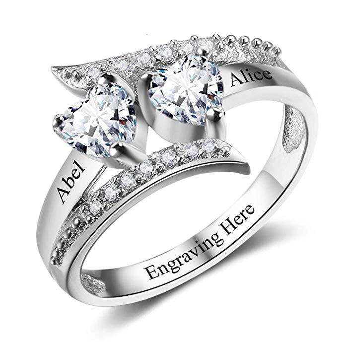 Personalised ring with custom message engraving