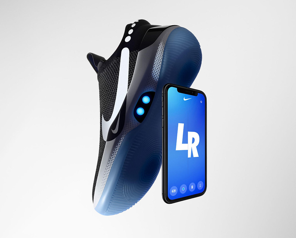 Nike Adapt BB along with the NIKE APP