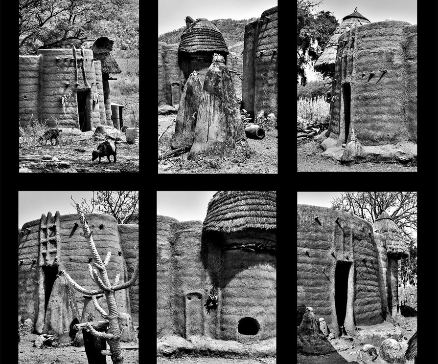 The village of Tamberma in northern Togo is shaped according to the body of the first woman, each home made of earth and stones representing flesh and bones, a place where man and woman, earth and sky come together. The earth is believed to be the center of the universe and sacred in nature. Each detail of life, every form incorporated into buildings play their part in the cosmos. Builders are believed to work by the direction of the gods, imbued with the power to create sacred forms from the earth and grasses of the Savannah.