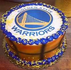 """8"""" Round Warriors Cake"""