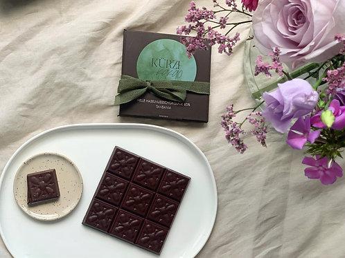 Feingemahlene Haselnuss-Schokolade 60%, Kilombero-Tal, Tansania
