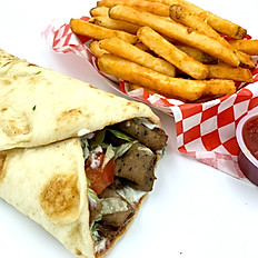 Gyro sandwich with French Fries