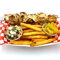 Chicken Kebab with French fries