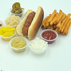 Jalapeno & Cheese hot dog plate