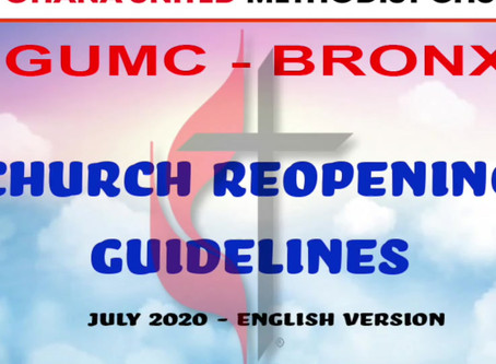 GUIDELINES TO CHURCH REOPENING