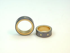 Wedding Rings tantalum, gold,