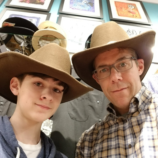 Hat shopping in Austin
