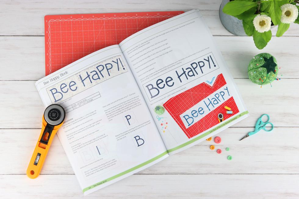 Bee Happy Quilt Book Spread