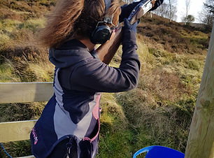 Junior Clay pigeon shooting North Wales