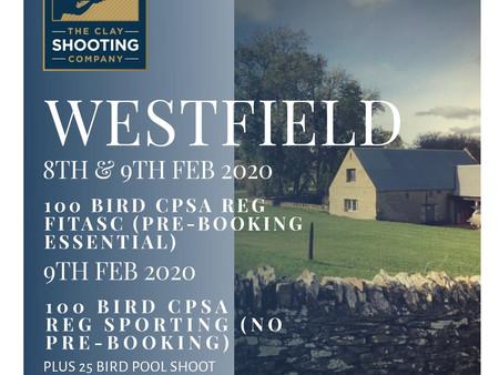 Westfield 8th & 9th Feb