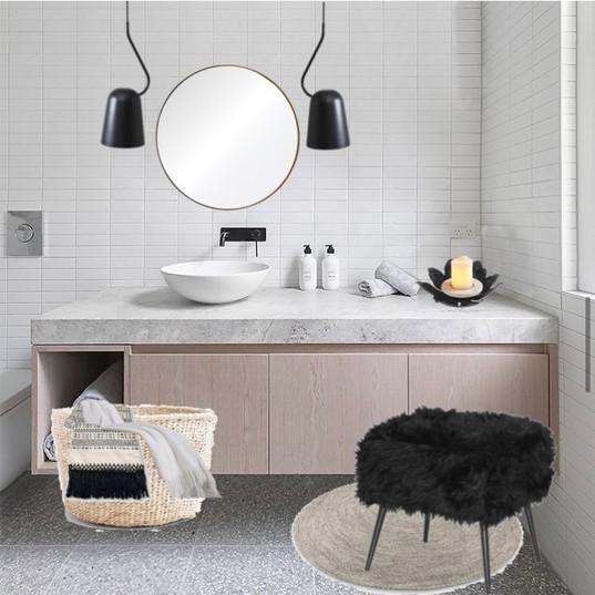 Modélisation salle de bain moderne