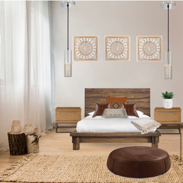 Modélisation chambre de style rustic/bohémien