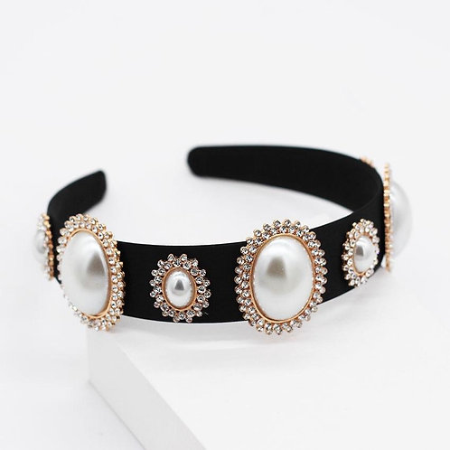 jewelled headband. Rose Gold/Pearl