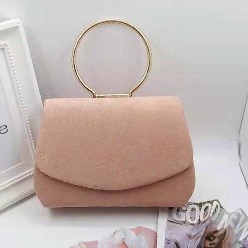 Envelope style evening bag. Blush Pink