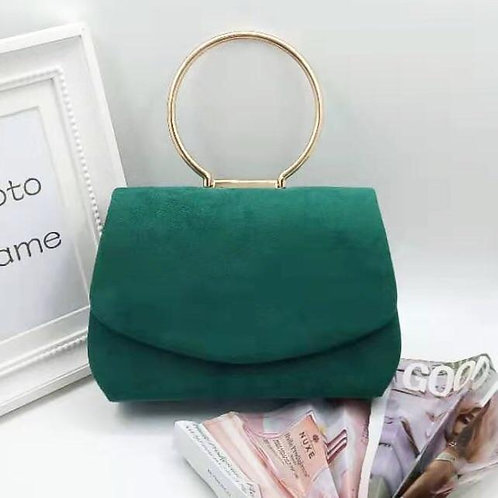 Envelope style evening bag. Emerald Green.
