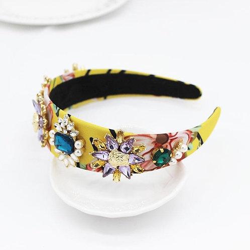 Jewelled headband. Multicolour