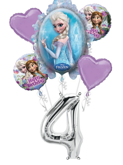 Add Number To Bouquet- Silver Foil Helium Balloon Number 0-9