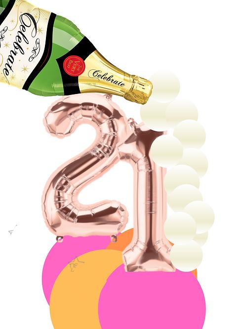 Custom Rose Gold Birthday Number