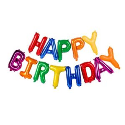 Happy Birthday Banner Foil Balloons