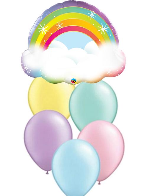 Glitz Rainbow Balloon Bouquet