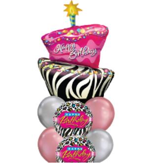 Birthday Cake - Balloon Bouquet