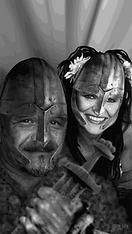Håvard Aurdal og Rita Fjeld som Vikinger av Vidar Fjeld / New Energy Art
