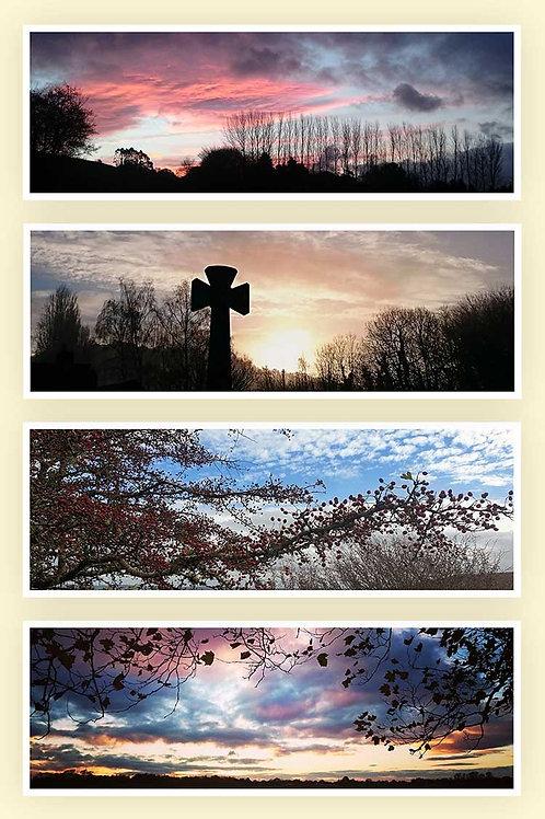 Dream time skies shepherds warning dawn promise berries spirit in the sky photo greeting card
