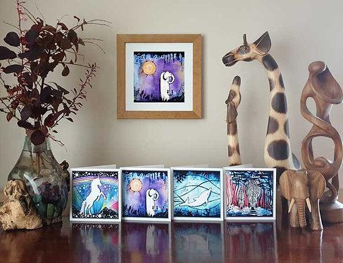 Animalia Animal Elephant at Twilight fine art print and greeting cards