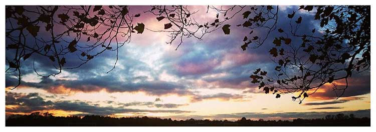Dream time skies spirit in the sky sunset colour clouds photo greeting card
