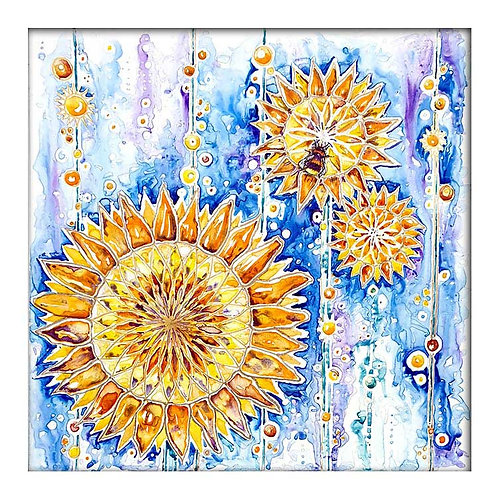 Sunflower Bee Greeting Card